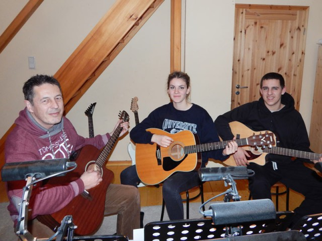 Gitarrenunterricht in der Gruppe